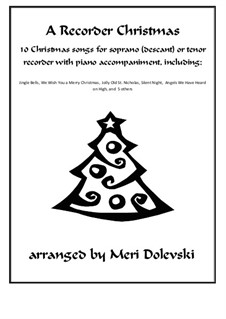 15 Christmas pieces: For recorder and piano by Georg Friedrich Händel, folklore, James R. Murray, James Lord Pierpont