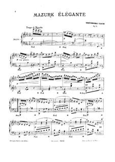 Mazurk élégante, Op.74: Mazurk élégante by Theodore Lack