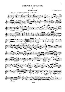 String Quartet in F Major 'Tempora Vetusta': Violin II part by Nikolay Ladukhin
