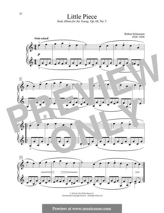 No.5 Stückchen (Little Piece): For piano by Robert Schumann