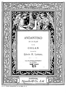 Andantino in D Flat Major: For organ by Edwin Lemare