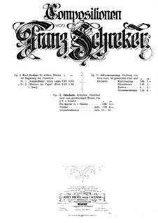 Stimmen des Tades, Op.2 No.2: Stimmen des Tades by Franz Schreker