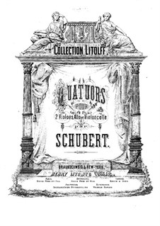 Four String Quartets: Viola part by Franz Schubert
