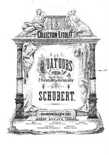 Four String Quartets: Cello part by Franz Schubert