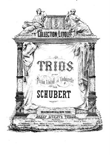 Two Piano Trios, Op.99, 100: Cello part by Franz Schubert
