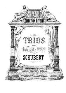 Two Piano Trios, Op.99, 100: Violin part by Franz Schubert