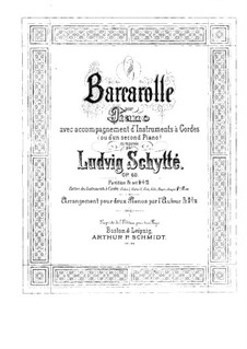 Barcarole for Piano and Strings (or Two Pianos), Op.60: Violin II part by Ludvig Schytte
