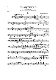 String Quartet in F Major: Viola part by Antonio Scontrino