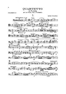 String Quartet in F Major: Cello part by Antonio Scontrino