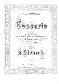 Concerto for Piano and Orchestra in A Flat Major, Op.19: Version for two pianos four hands by Anton Simon
