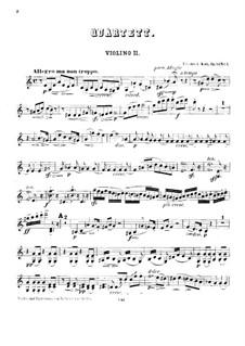 String Quartets, Op.53: Quartet No.1 – violin II by Friedrich Kiel
