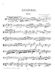 String Quartets, Op.53: Quartet No.1 – viola part by Friedrich Kiel