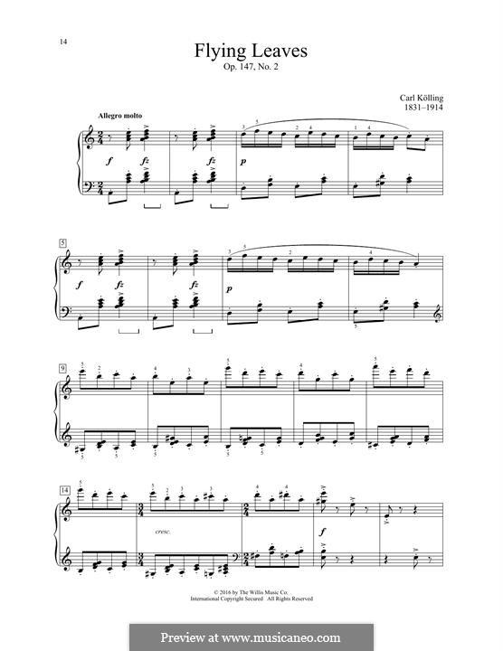 Flying Leaves, Op.147 No.2: Flying Leaves by Carl Kolling