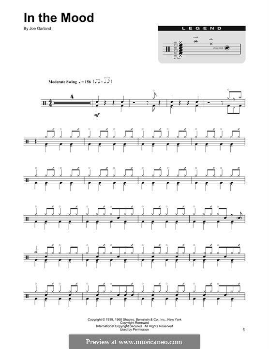In the Mood (Glen Miller): Drum set by Joe Garland