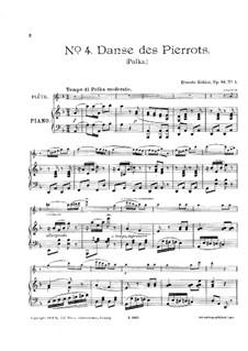 Sechs Vortragsstücke für Flöte und Klavier, Op.84: Nr.4 Danse des pierrots by Ernesto Köhler