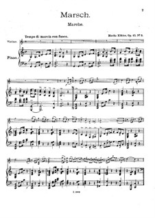 Pieces for Violin and Piano, Op.45: No.3 March by Moritz Köhler