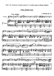 Polonaise for Violin and Piano, Op.14: Polonaise for Violin and Piano by Alexander Kőszegi