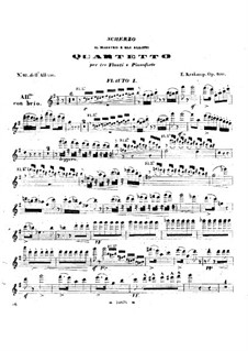 Scherzo for Three Flutes and Piano, Op.100: Flute I part by Emmanuele Krakamp