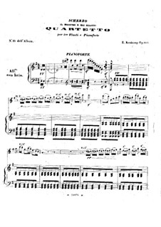Scherzo for Three Flutes and Piano, Op.100: Piano part by Emmanuele Krakamp