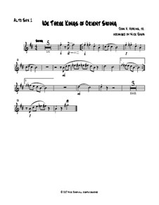 We Three Kings of Orient Swing: For easy sax quartet – alto sax I part by John H. Hopkins Jr.