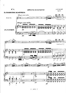 Fantasia on Themes from 'The Barber of Seville' by Rossini, Op.157: Score by Emmanuele Krakamp