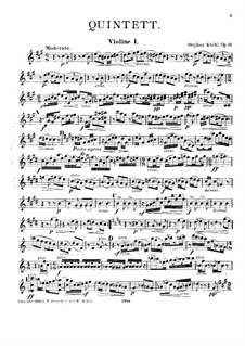 Quintet for Clarinet and Strings, Op.19: Violin I part by Stephan Krehl