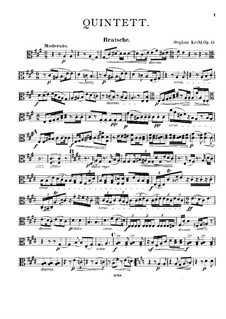Quintet for Clarinet and Strings, Op.19: Viola part by Stephan Krehl