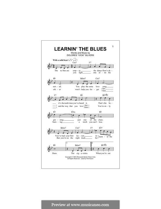 Learnin' the Blues (Katie Melua): Melody line by Dolores Vicki Silvers