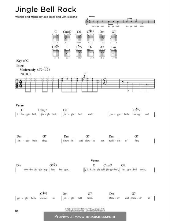 Jingle Bell Rock: For guitar with tab by Jim Boothe, Joe Beal