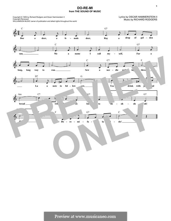 Do-Re-Mi (from The Sound of Music): Melody line by Richard Rodgers