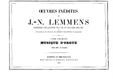 Organ Music. Book I: Organ Music. Book I by Jacques-Nicolas Lemmens