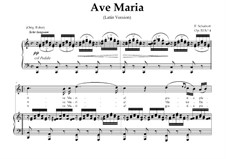 Ave Maria (Piano-vocal score), D.839 Op.52 No.6: For High Soprano or Tenor (In Latin). Landscape in C Major by Franz Schubert
