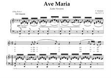 Ave Maria (Piano-vocal score), D.839 Op.52 No.6: For Contralto or countertenor (In Latin). Landscape in F Major by Franz Schubert