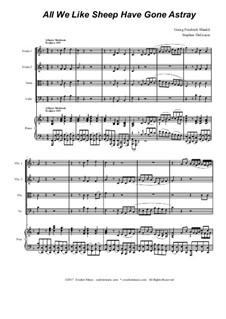 No.26 All We Like Sheep: For string quartet by Georg Friedrich Händel