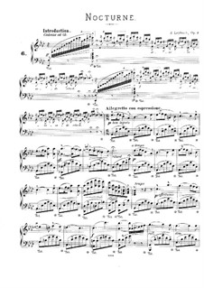 Nocturne No.1 in A Flat Major, Op.3: For piano by Joseph Leybach