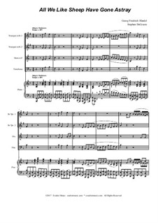 No.26 All We Like Sheep: For brass quartet by Georg Friedrich Händel