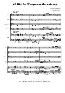 No.26 All We Like Sheep: For woodwind quartet by Georg Friedrich Händel