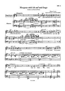 Morgens Steh ich Auf und Frage, S.290: Version II by Franz Liszt