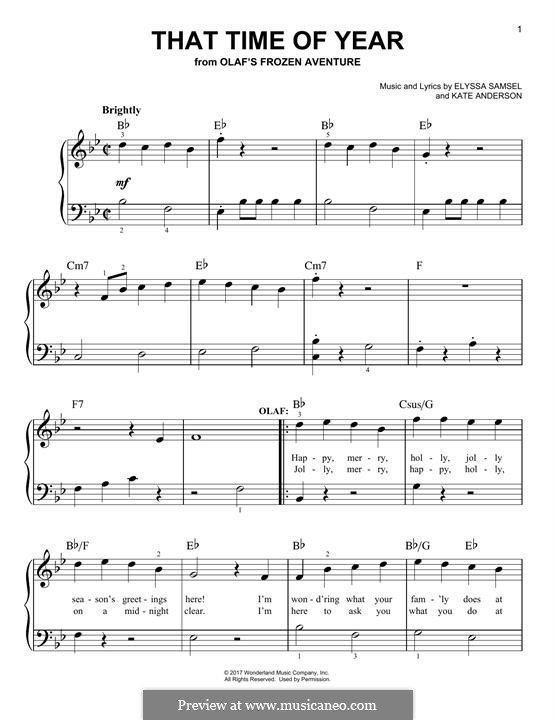 That Time of Year: For piano by Kate Anderson, Elyssa Samsel