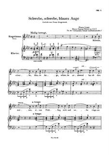 Schwebe, schwebe, blaues Auge, S.305: Version II by Franz Liszt