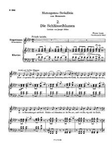 Muttergottes-Sträusslein zum Mai-Monate, S.316: Nr.2 Die Schlüsselblumen by Franz Liszt