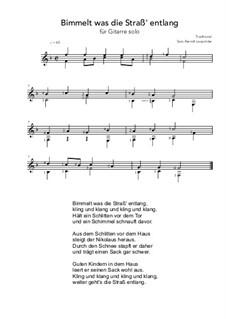 Bimmelt was die Straß' entlang: F Major by folklore
