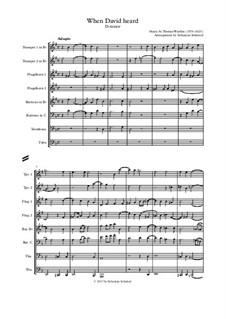 When David heard that Absalom was slain: For wind ensemble by Thomas Weelkes