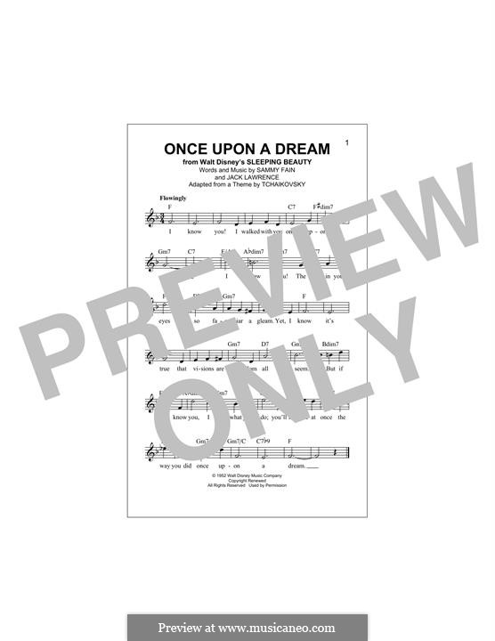 Once upon a Dream: Melody line by Jack Lawrence, Sammy Fain