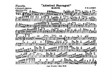 Admiral Farragut: Flute piccolo part by Frank Hoyt Losey