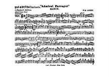 Admiral Farragut: Clarinets II, III parts by Frank Hoyt Losey