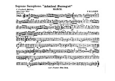 Admiral Farragut: Soprano saxophone part by Frank Hoyt Losey