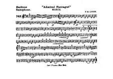 Admiral Farragut: Baritone saxophone part by Frank Hoyt Losey
