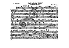 Call of the Wild: Flute piccolo part by Frank Hoyt Losey