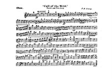 Call of the Wild: Oboe part by Frank Hoyt Losey